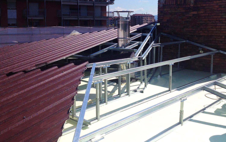 struttura tetto ferro e acciaio