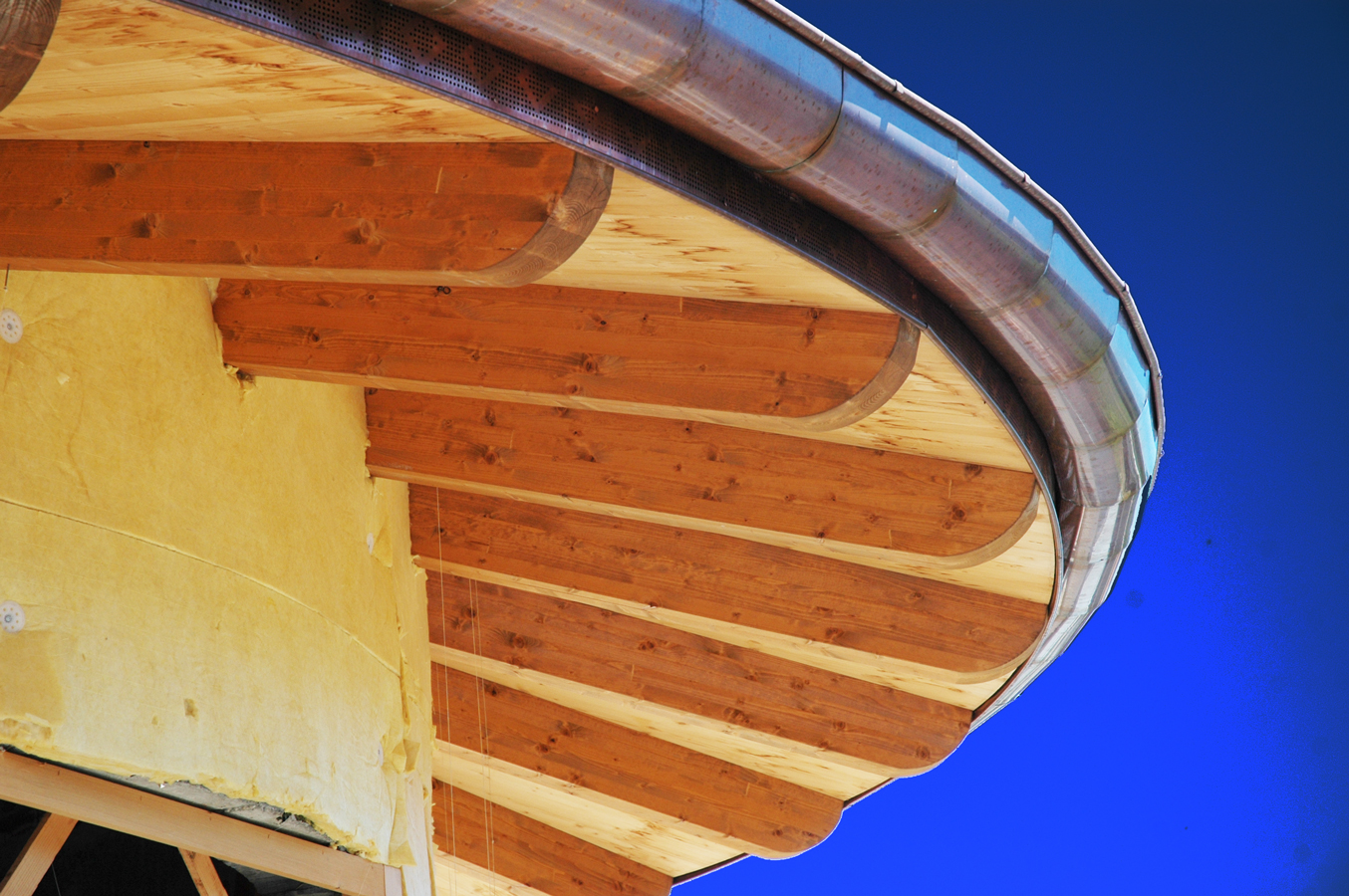 tetti in legno, particolare della curvatura
